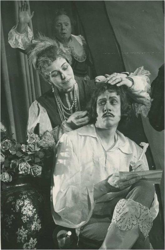 Šimtamečiai. 1961.Spektaklio scena. Markizas de Montefiore – Vladas Tautkevičius. LIMIS.