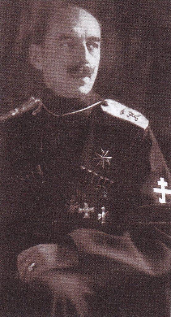 Karinis avantiūristas Pavelas Bermondtas-Avalovas emigracijoje Vakarų Europoje 1925 m. Viliaus Kavaliausko archyvas.