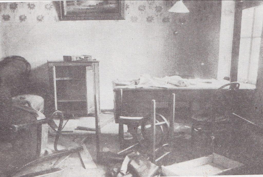 Po bermontininkų siautėjimo. Miesto valdybos pirmininko kambarys. 1919 m. lapkričio 22 d.