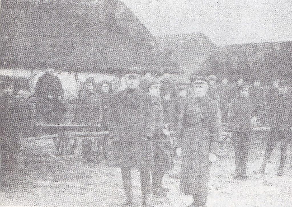Kulkosvaidininkų kuopa 1919 m. Šeduvoje, pasiruošusi kovai su bermontininkais