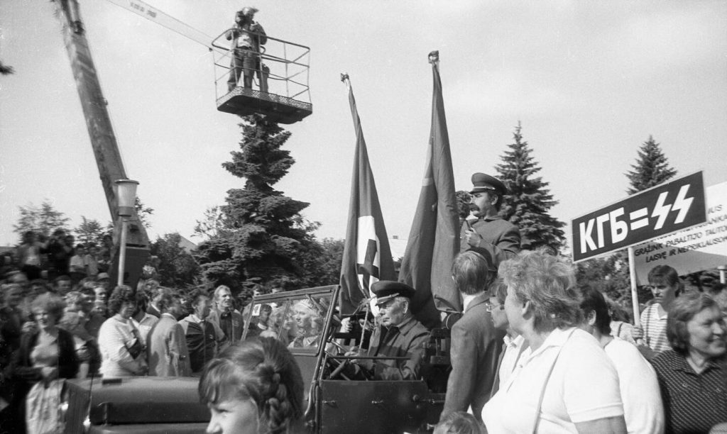 Molotovo-Ribentropo pakto 50-mečio minėjimas Šiauliuose, Pergalės aikštėje, 1989 m. rugpjūčio 23 d. Nuotr. aut. Juozas Bindokas