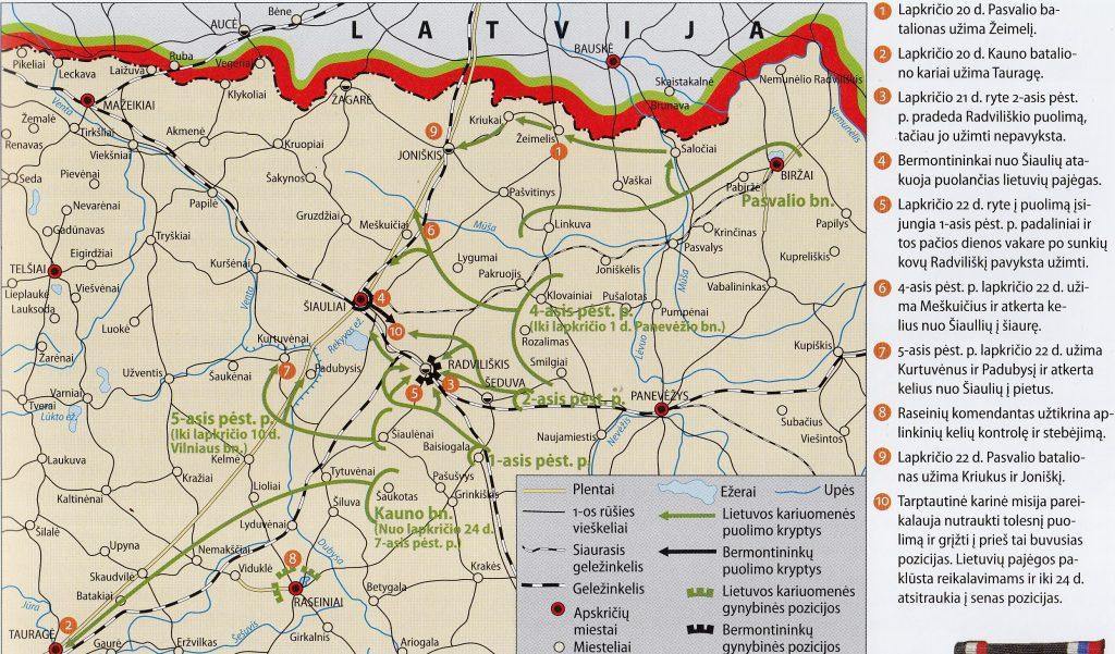 Šiaulių–Radviliškio operacijos eiga 1919 m. lapkričio 20-24 d.