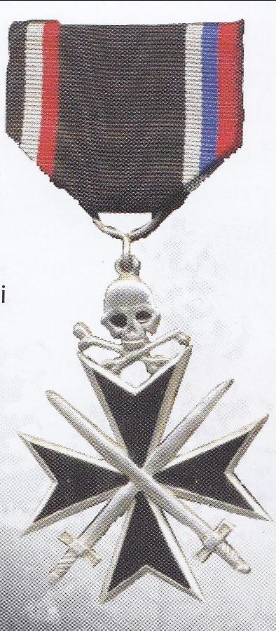 Rusijos korpuso kryžius teiktas kovos veiksmuose dalyvavusiems bermontininkams. Jo juostelės krašteliai papuošti Rusijos ir Vokietijos vėliavų spalvomis.