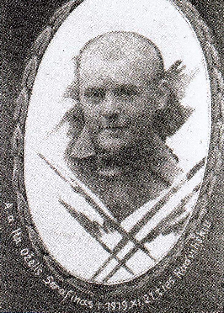 Leitenantas Serafinas Oželis, 1919 m. lapkričio 21 d. žuvęs ties Radviliškiu. 2-ojo pėstininkų DLK Algirdo pulko karininkai, žuvę už nepriklausomybę 1919–1923 m. Vinjetė. LCVA.