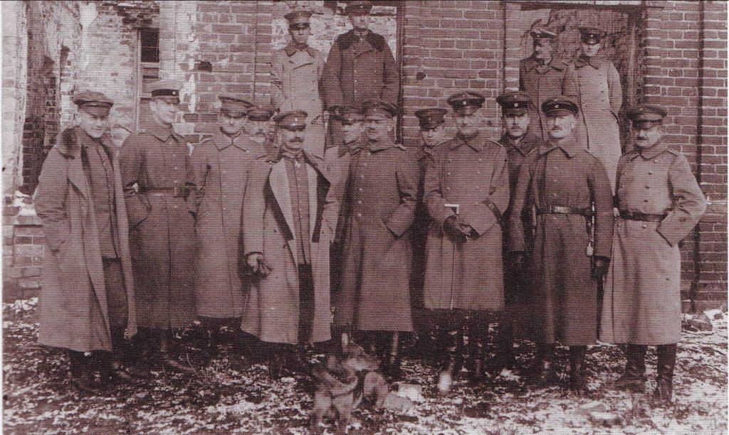 Vokiečių brigados štabas Šiauliuose. 1919 metų ruduo. LCVA