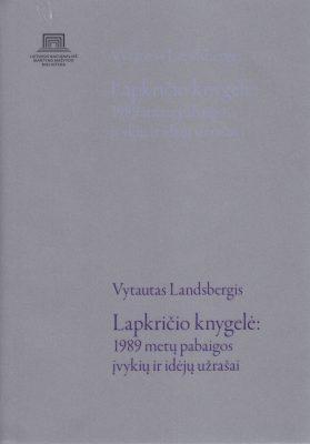 Lapkričio knygelė: 1989 metų pabaigos įvykių ir idėjų užrašai