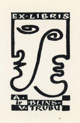 Savinijaus Katausko ekslibrisas. GBEF kolekcija